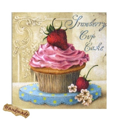 Tablou Strawberry Cup Cake