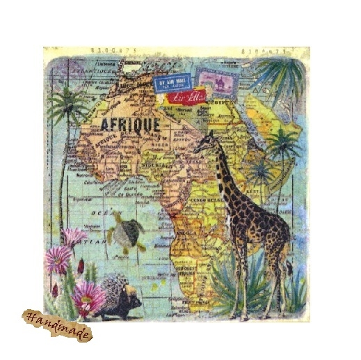 Tablou Vintage Afrique Map